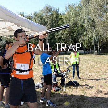 Ball trap laser