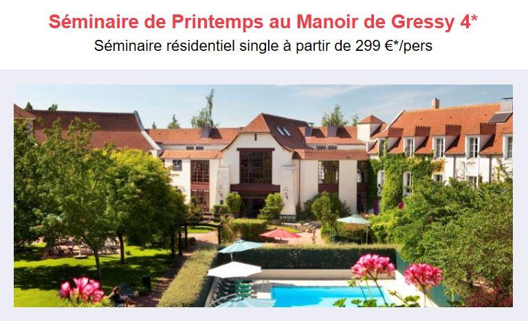 Seminaire et team-building au Manoir Gressy