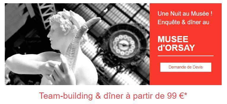 team-building rallye enquête Musée d'Orsay