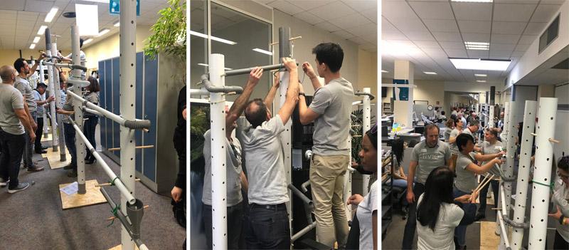 Team-building construction - Pipeline Challenge